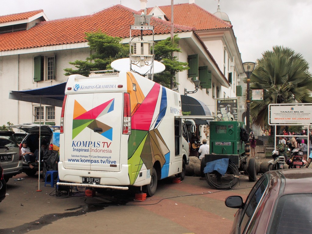 Last time in Indonesia, Kompas was just the newspaper. It's a television station now too.