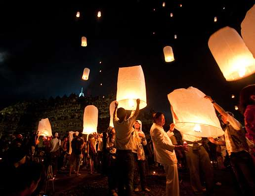 Borobudur lantern launch